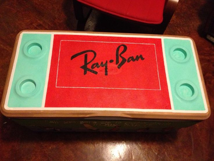 Ray Ban themed painted fraternity cooler #TheCoolerConnection – Coolers