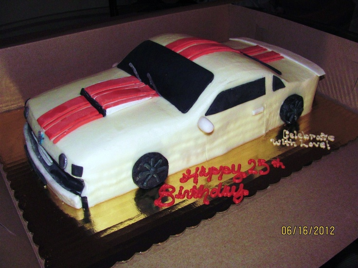 22 best Car cakes images on Pinterest Car cakes Mustangs and Sugar
