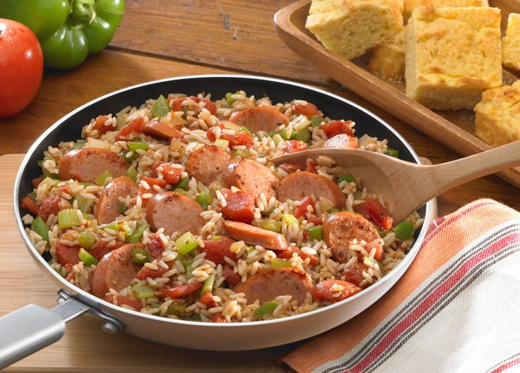 Fully Loaded Jambalaya with Andouille Sausage - Johnsonville.com