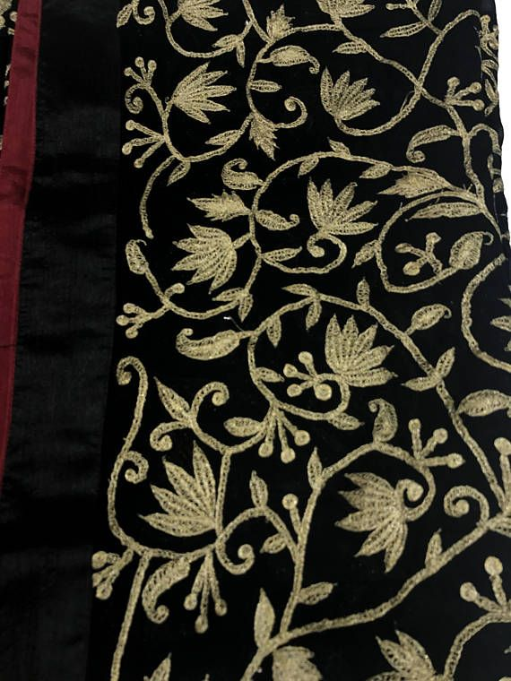 254f2e23976 Dull Gold Zari Embroidered Heavy Kashmiri Suit, Indian, Ethnic ...