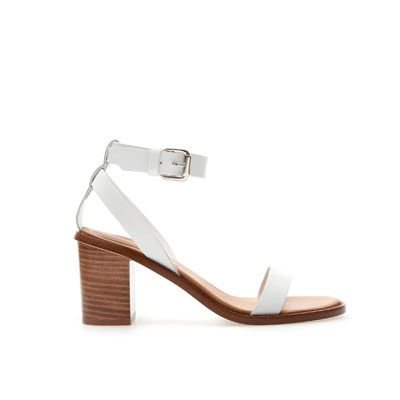 BLOCK SANDAL WITH ANKLE STRAP - Shoes - Woman - ZARA United Kingdom