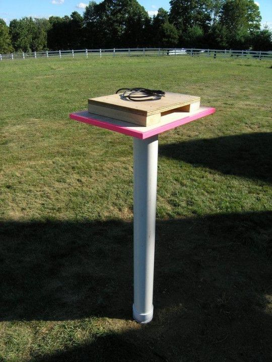amaze your friends and annoy neighbors with own backyard theater projector pvc stand vertical