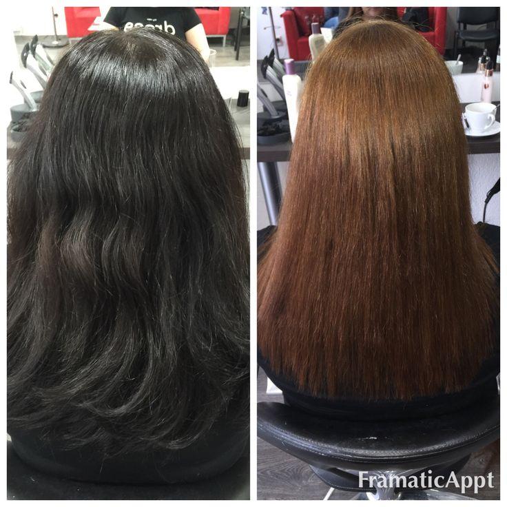 Sťahovanie čiernej ..vlasy su uplne v super kondícii samozrejme aj vďaka Olapexu a farouk Chi