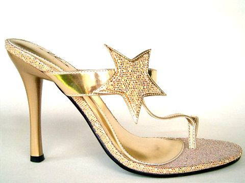 zehensteg high heels | X-Mules - 457Star - gold - High Heels Shop by FUSS Schuhe ...