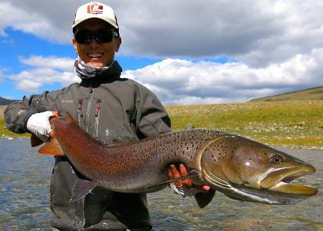 Kelvin ng giant majestic taimen fishing photos art for Taimen fishing mongolia