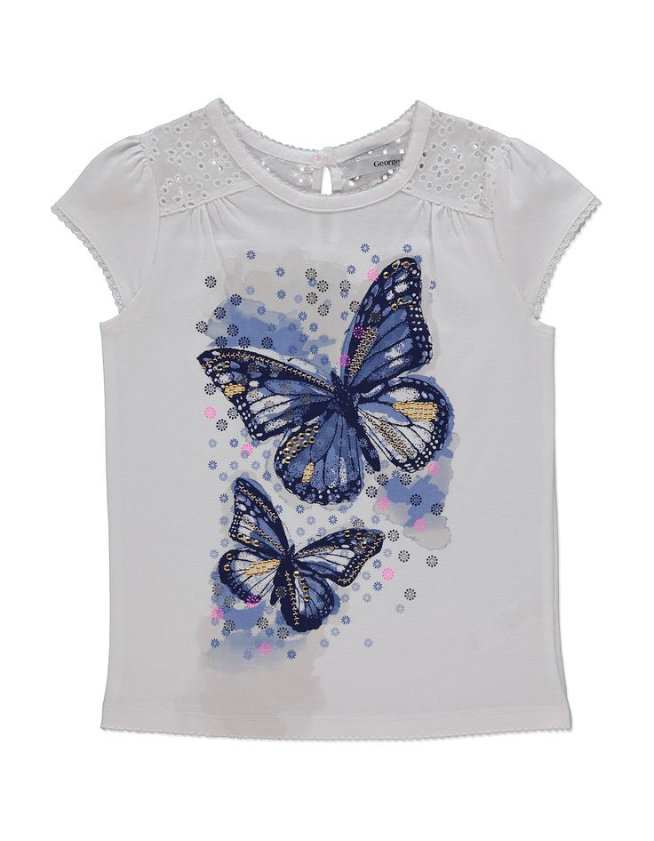 Butterfly Print T-shirt | Kids | George at ASDA