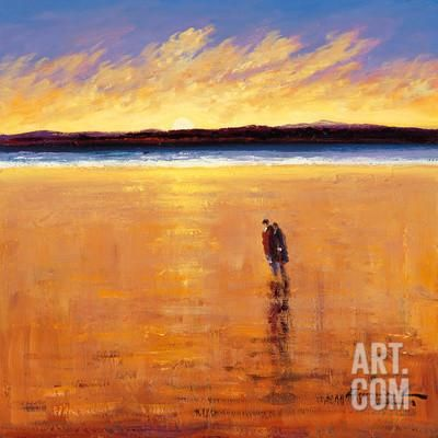A Quiet Moment, Port Stewart Stand Art Print by William Cunningham at Art.com