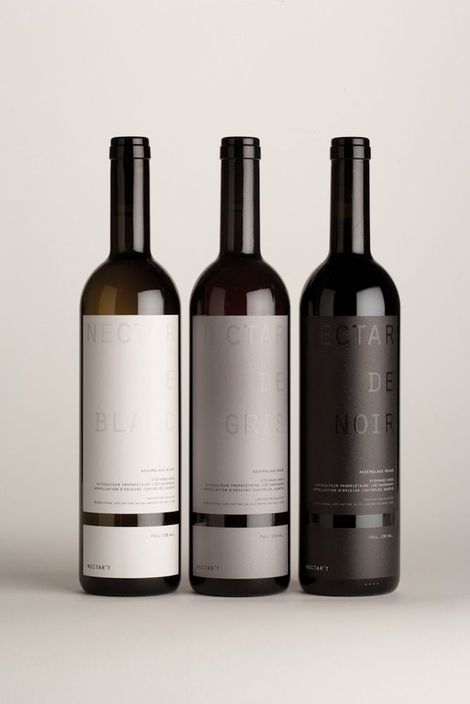 label / Silver Award for Nectar't 2 by CFPAA Arts Appliqués (2011) #vino #wine #winelovers #packaging