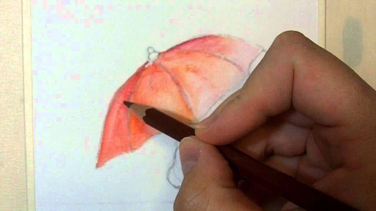 Acquerello: tecnica con matite acquerellabili   <3