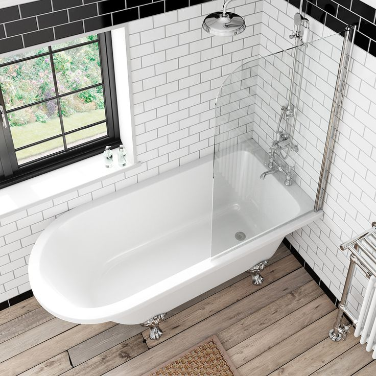 The Bath Co. Dulwich freestanding shower bath and bath screen | VictoriaPlum.com