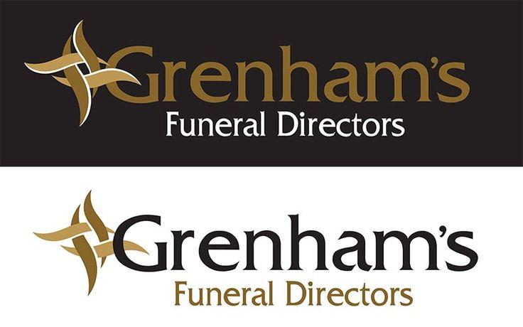 Grenham's Funeral Directors logo, dark & light.