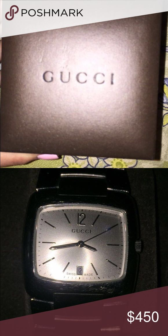 VINTAGE GUCCI WATCH Vintage Gucci Watch!!! Comes with extra links! CAN BE WORN AS WOMEN. Price is Negotiable! WILL THROW IN ANY OTHER ITEM ON HERE FOR FREE Gucci Accessories Watches