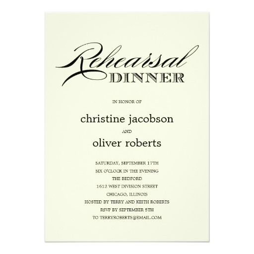 Best Rehearsal Dinner Wedding Invitations Images On
