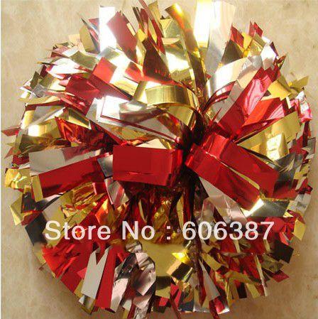 Черлидинг пом англичане 3/4  x 6  ~ эстафету пом в металлическом красное золото серебряный мини-заказ 10 шт.