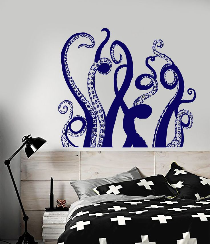 Vinyl Wall Decal Octopus Tentacles Marine Decor Bathroom ...