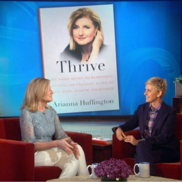 """We are loving #AriannaHuffington's New Book """"Thrive"""" about trading our culture of overwork and 24-hour connectivity for a better quality of life! #RedefineSuccess #WCW #ValleyGirlShow   Watch Arianna talk about #Thrive on the @Ellen DeGeneres   show http://www.ellentv.com/videos/0-f0uwqh2y/"""