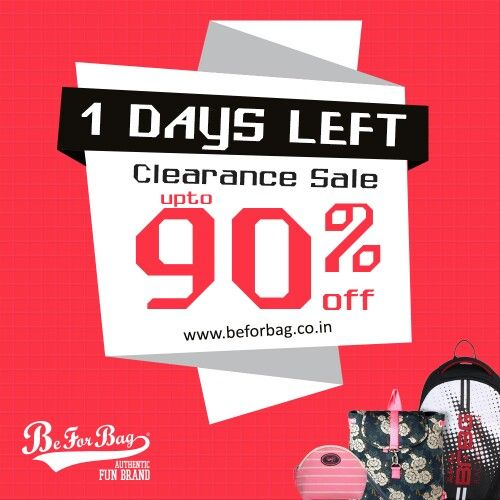 Last day to grab your favourite bags. The clock is ticking. #sale #clearancesale #bags #backpacks