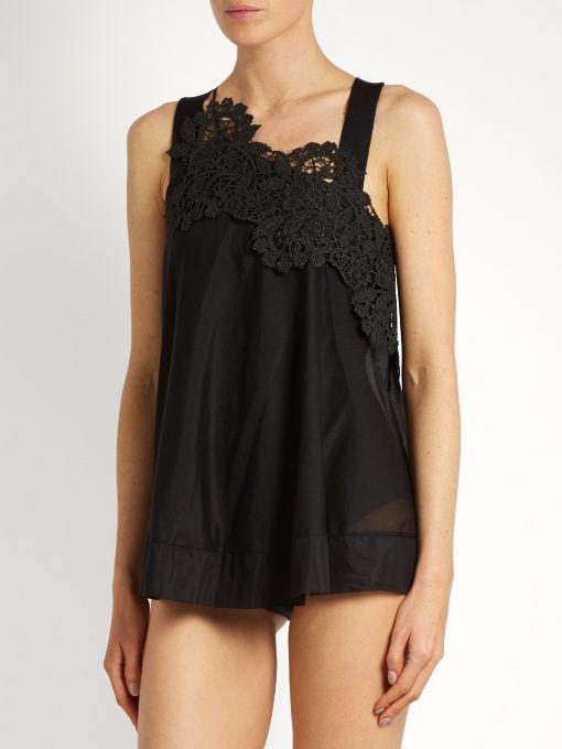 Lila Eugenie 1726 one-shoulder cotton-blend voile top