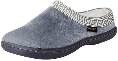 Old Friend Slippers Womens Emma Terry Cloth Padded 7 Grey 340153
