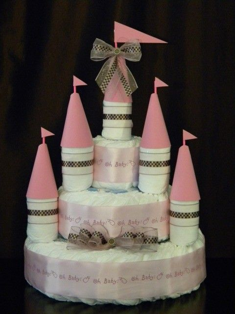 Castle Diaper Cake Etsy Defantcreations Baby Shower