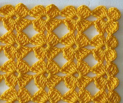 Vanecroche e patch: Ponto florzinha croche com passo a passo