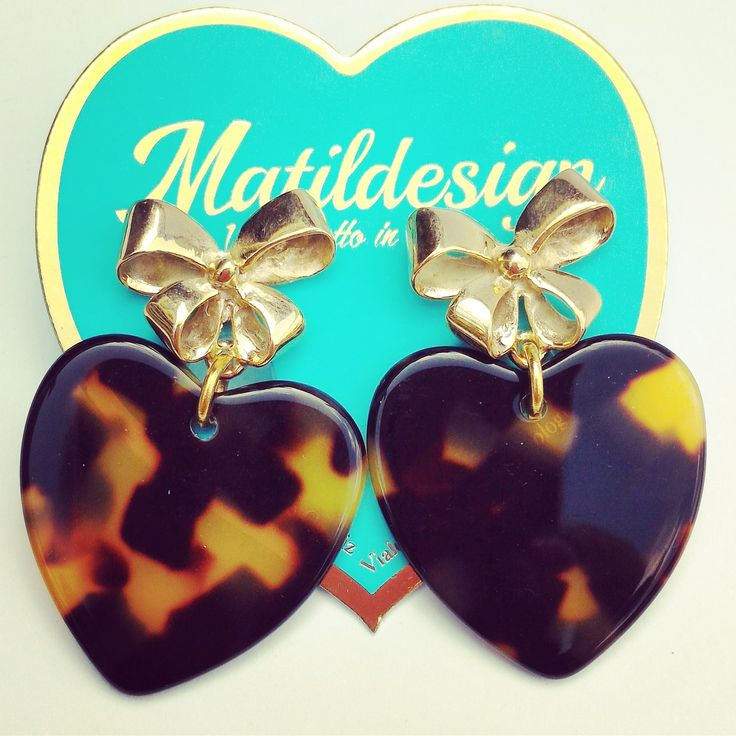 Acrylic earrings with delicious bow by Matildesign Italy