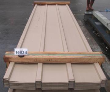 Trapezprofil 25.280/3 Dach 0.63 mm Polyester, RAL 1019, beige. Sonderposten 157,5qm für nur 6,95 Euro / qm. Schnell zugreifen, nur 1x an Lager.