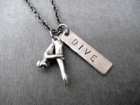 Novelty Scuba Diver Necklace Unique Beachy Gift for Scuba Lovers Novelty Antique Brass Scuba Necklace for the Scuba Diver Turtle Necklace