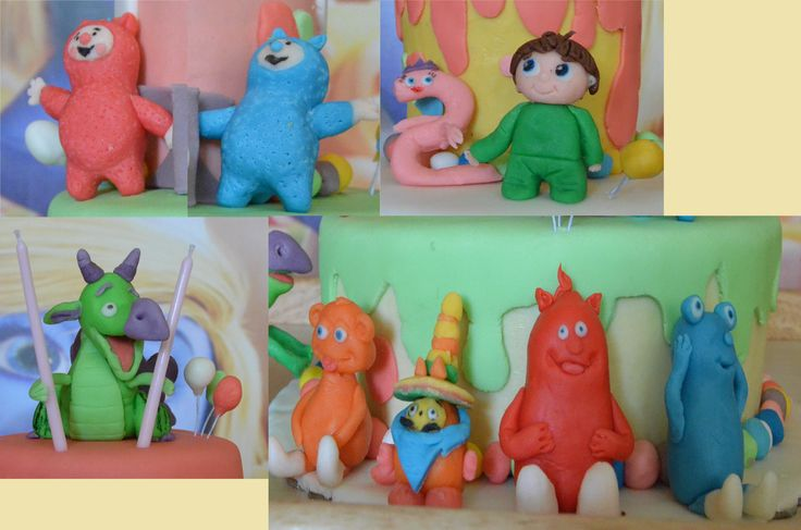 Οι πρωταγωνιστές του baby tv σε ζαχαρόπαστα! Fondant baby tv fondant cake toppers!