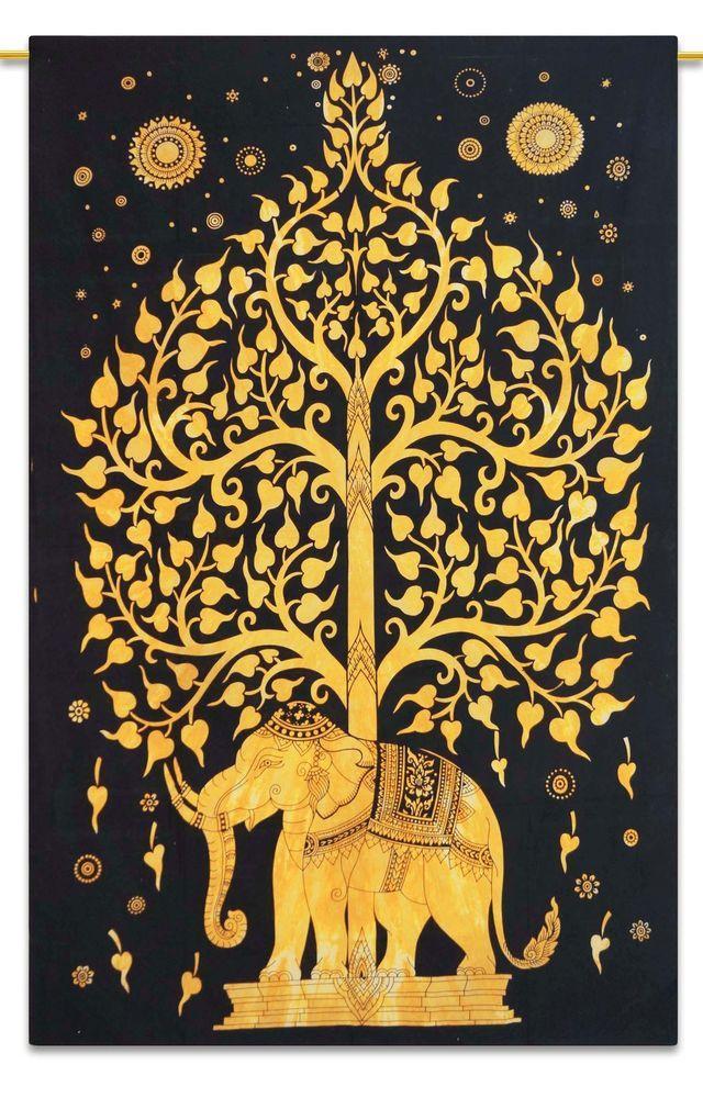 Indian Tapisserie Wandbehang böhmischen Natur Dorm Room Wandteppiche Twin Größe