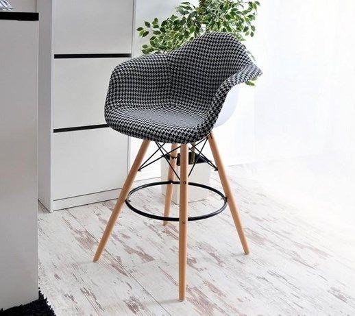 Krzesło Wysokie Z Obiciem Eps Wood Tap 2 Pepitka - Hokery - zdjęcia, pomysły, inspiracje - Homebook