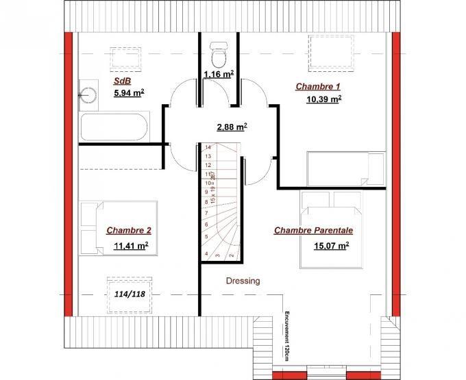 49 best plans de maisons images on pinterest bedrooms house blueprints and kitchen pantry. Black Bedroom Furniture Sets. Home Design Ideas
