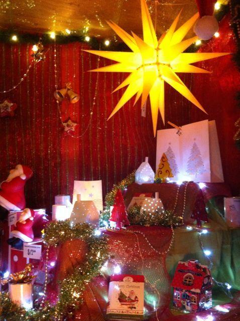 "Find wonderful decoration ideas at our ""Herrnhuter Sterne"" booth at the Vancouver Christmas Market #mybrilliantstar #herrnhutstar #moravianstar #christmas #decoration #vancouverchristmasmarket"