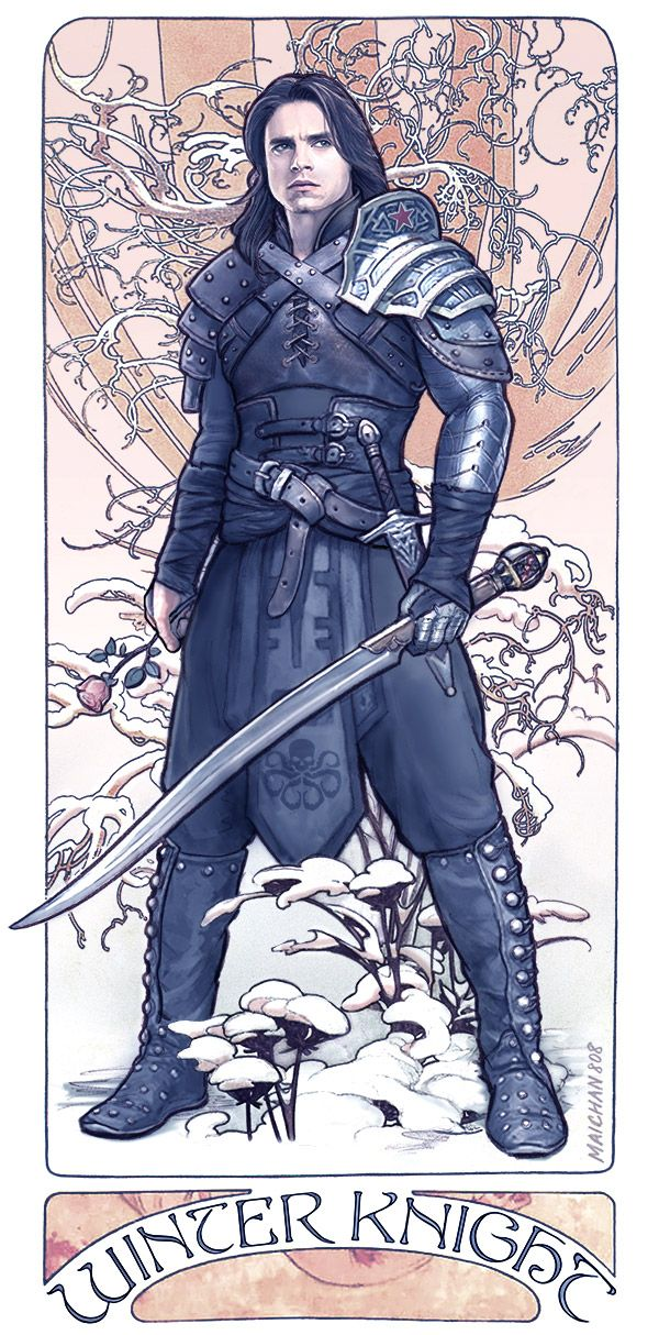 maichan-art.deviantart.com Bucky Barnes the Winter Soldier - Winter Knight