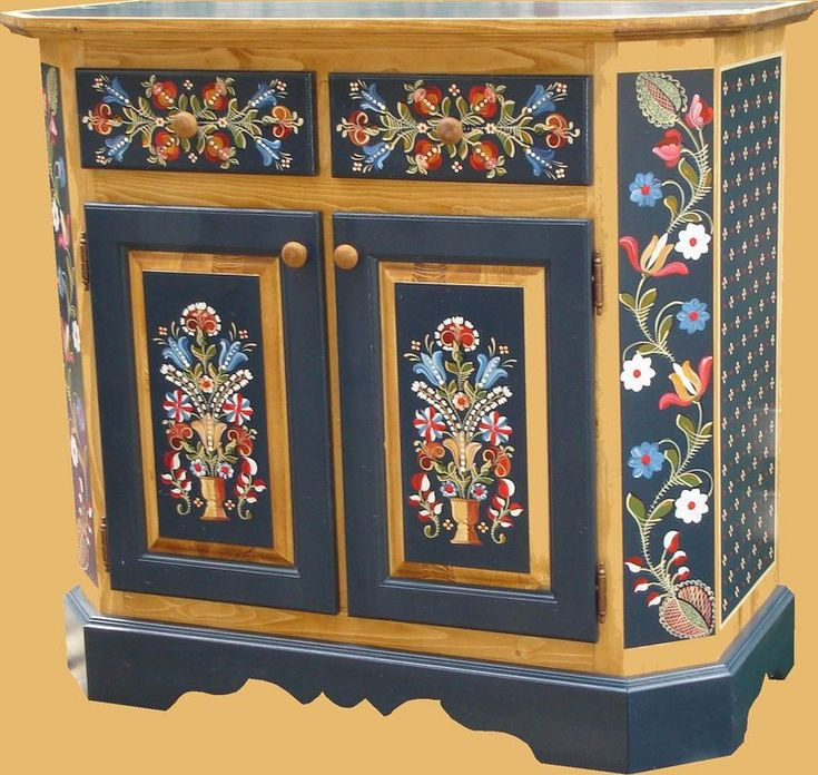 MOBILIER PICTAT TRADITIONAL | COMODA ARCHARD | magazinul-cu-traditii.ro
