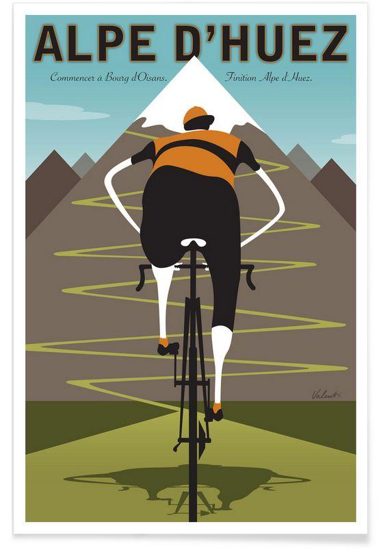 Alpe d'Huez - Michael Valenti - Premium Poster