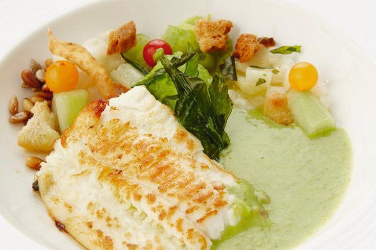 RECEPT. Pladijs met groene gazpacho - De Standaard