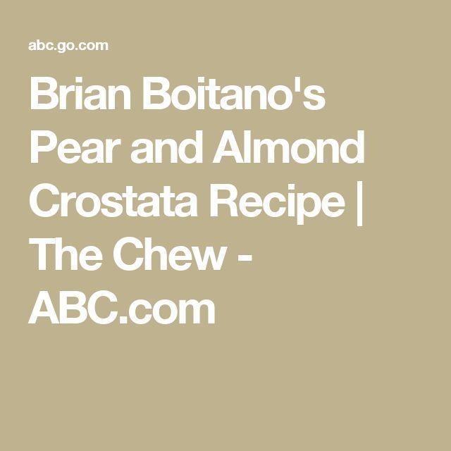 Brian Boitano's Pear and Almond Crostata Recipe | The Chew - ABC.com