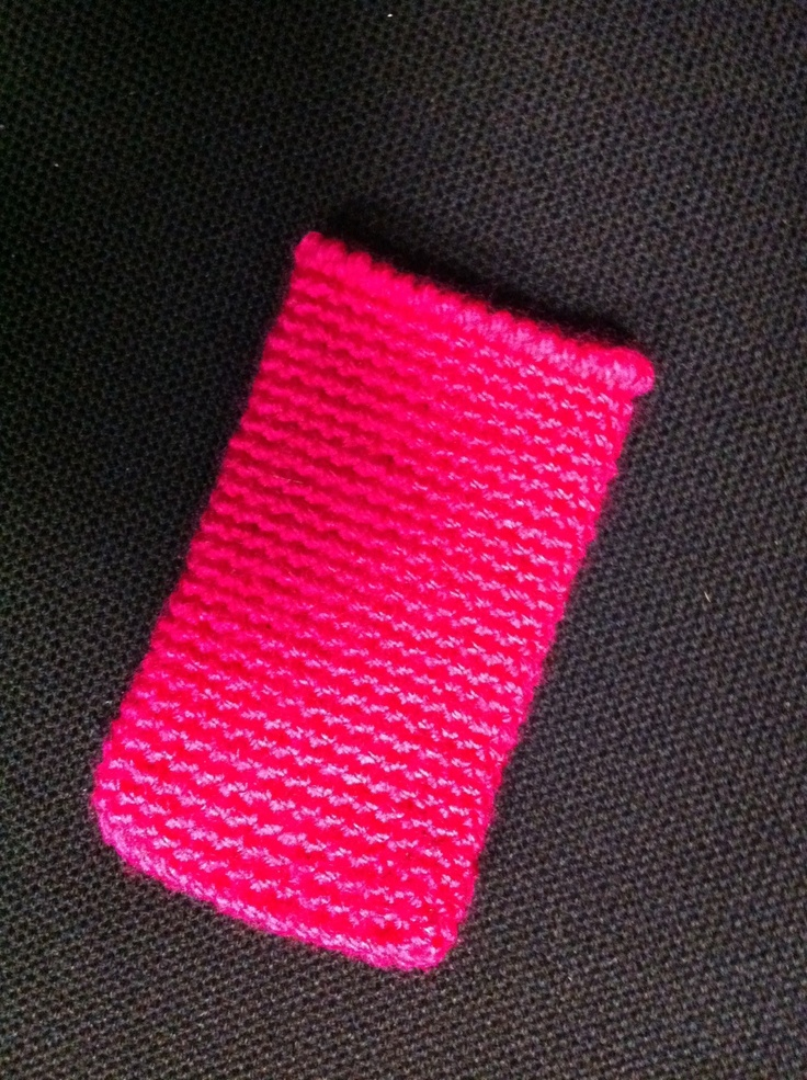 Another crochet pocket to protect your iPhone... Fashion pink!...