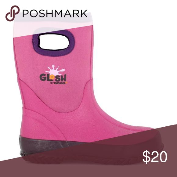 Winter boots/rainboots Super cute pink girls boots.  Lightly worn! Daughter decidesshe hates pink go figure!!! Bogs Shoes Winter & Rain Boots