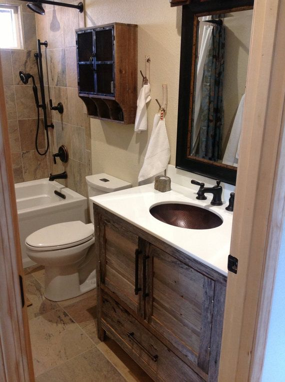 rustic small bathrooms best 25 barn wood cabinets ideas on rustic 14325