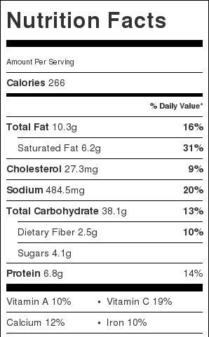 Mashed Potatoes Nutrition