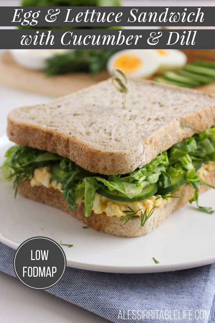 Low FODMAP Egg & Lettuce Sandwich with Bakers Delight Wholegrain Lo-Fo Loaf | A Less Irritable Life
