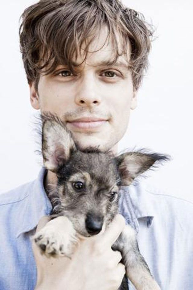 Hot men & puppies! Welcome to MY fantasy world! Matthew Gray Gubler