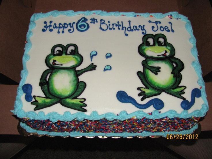 Cute Froggy Cake    Frogs Splashing - Erin Miller Cakes - https://www.facebook.com/erinmillercakes
