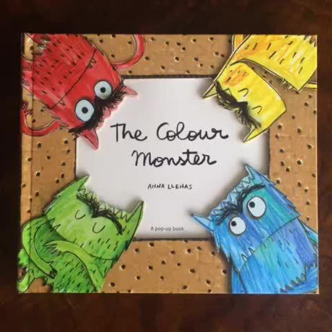"""Ya podéis encontrar """"El Monstruo de Colores"""" en INGLÉS (UK) The Colour Monster's feelings are all jumbled up so he needs to sort them. #book #picturebook #kidsbooks #popup #art #illustration #colour"""