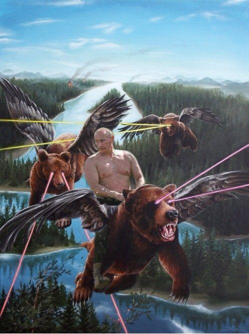 Vladimir Putin on flying bears with lasers