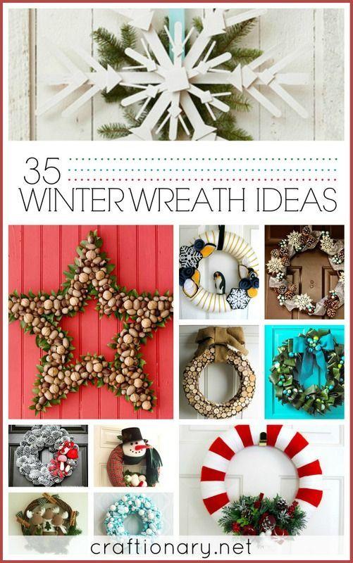 35 Wonderful Winter Wreath Ideas http://www.diyhomeworld.com/35-wonderful-winter-wreath-ideas/