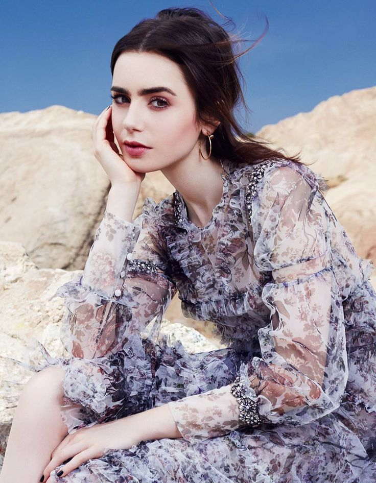 Glamour Mexico July 2017 Lily Collins by Rachell Smith