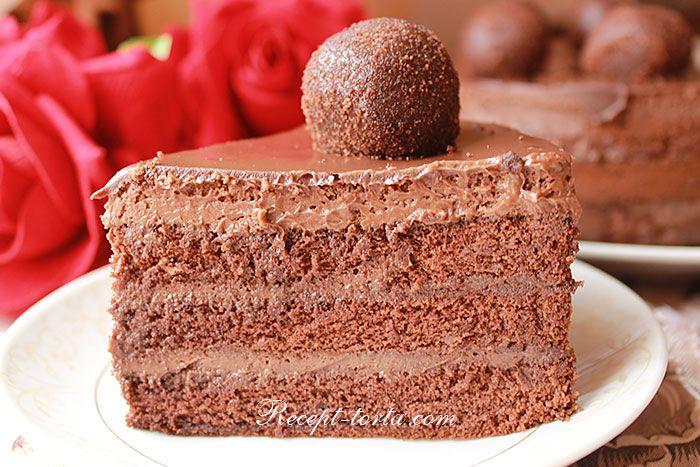 Десерт Бельгийский шоколад в разрезе